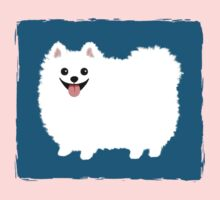 Fluffy White Pomeranian Kids Clothes