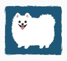 Fluffy White Pomeranian by Jenn Inashvili