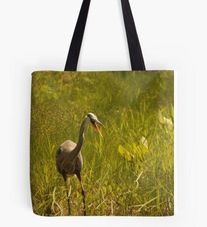 Urban 'Great Blue Heron' say's Hello! Tote Bag