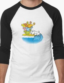 cat surfing Men's Baseball ¾ T-Shirt