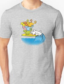 cat surfing Unisex T-Shirt