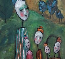 The Egghead Family Strolls Through the Park by Joanie Springer
