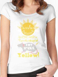 Sunshine daisies butter mellow... Women's Fitted Scoop T-Shirt
