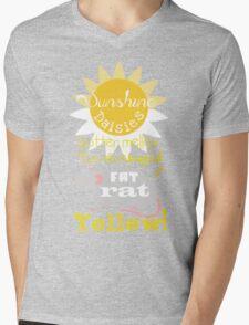 Sunshine daisies butter mellow... Mens V-Neck T-Shirt