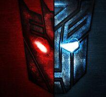 Autobot Vs. Decepticon by saboe