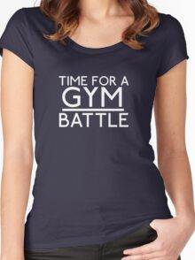 Time For A Gym Battle - White Women's Fitted Scoop T-Shirt