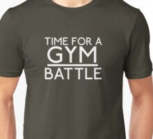 Time For A Gym Battle - White Unisex T-Shirt