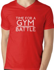 Time For A Gym Battle - White Mens V-Neck T-Shirt