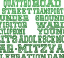 Word Association - Green Gradient Sticker