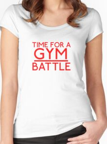 Time For A Gym Battle - Red Women's Fitted Scoop T-Shirt