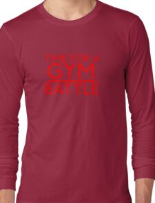 Time For A Gym Battle - Red Long Sleeve T-Shirt