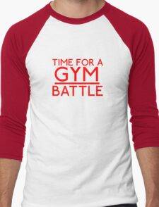 Time For A Gym Battle - Red Men's Baseball ¾ T-Shirt