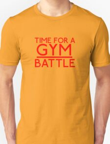 Time For A Gym Battle - Red Unisex T-Shirt