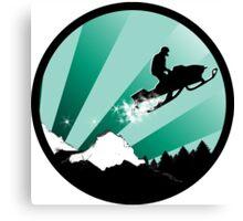 snowmobile : powder trail Canvas Print