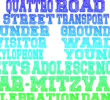 Word Association - Rainbow Gradient Sticker