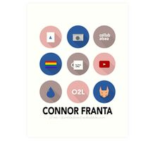Connor Franta Infographic Art Print