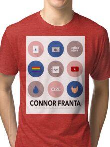 Connor Franta Infographic Tri-blend T-Shirt