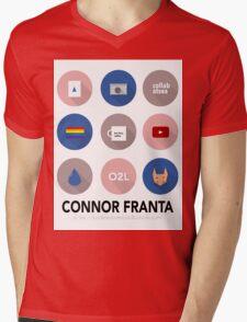 Connor Franta Infographic Mens V-Neck T-Shirt