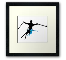 ski : shadowstance Framed Print