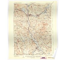 USGS TOPO Map New Hampshire NH Penacook 330291 1927 62500 Poster