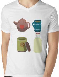 A nice cup of tea. Mens V-Neck T-Shirt