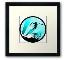 ski : powder trail Framed Print