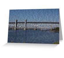 Gold Star Memorial Bridge Greeting Card