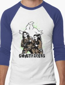 Who you gonna call? GhostFacers! Men's Baseball ¾ T-Shirt