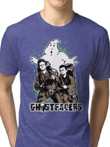 Who you gonna call? GhostFacers! Tri-blend T-Shirt
