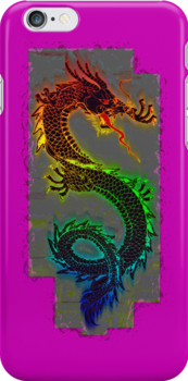 Asian, Chinese,Mythical Dragon, Year of the Dragon by Val  Brackenridge