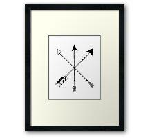 Three Modern Arrows Framed Print