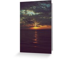 As Day Turns to Night Greeting Card