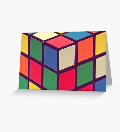 Vintage Cubes Greeting Card