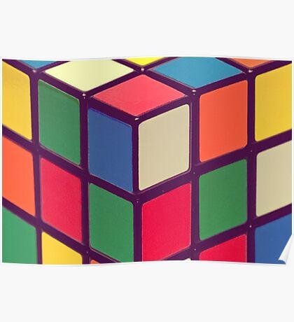 Vintage Cubes Poster