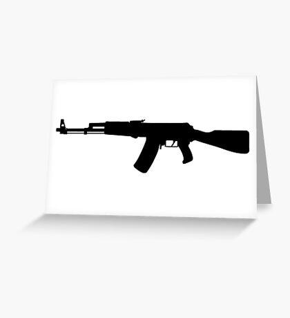 AK-47 assault rifle Kalashnikov Greeting Card