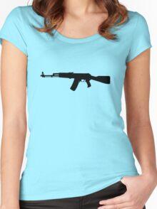 AK-47 assault rifle Kalashnikov Women's Fitted Scoop T-Shirt