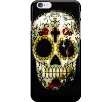 Day of the Dead Sugar Skull Grunge Design iPhone Case/Skin