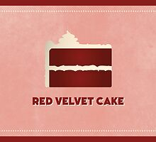 Red Velvet Cake (Color Palate) by janna barrett