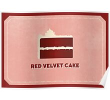Red Velvet Cake (Color Palate) Poster