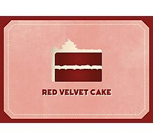 Red Velvet Cake (Color Palate) Photographic Print