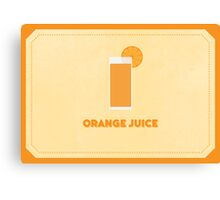 Orange Juice (Color Palate) Canvas Print