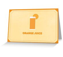 Orange Juice (Color Palate) Greeting Card
