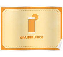 Orange Juice (Color Palate) Poster