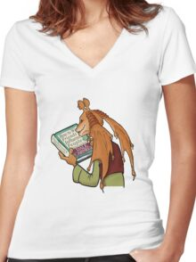 Meesa Lonely... Women's Fitted V-Neck T-Shirt