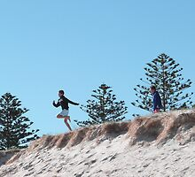 'JUST WATCH ME!' Winter fun, 'Fort Glanville,' Adelaide beach, Sth.Aust. by Rita Blom