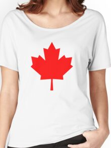 Canadian Maple Leaf Women's Relaxed Fit T-Shirt