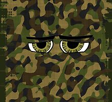 Funny Camouflaged Eyes, Military, Hunters, Army  by NaturePrints