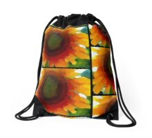 Sunflower II Drawstring Bag