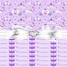 Princess Purple Dreams Greeting Card by purplesensation