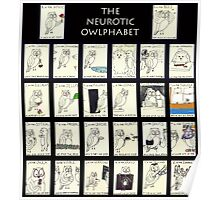 The Neurotic Owlphabet Poster